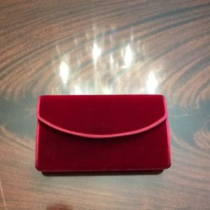 Red Velvet Box Envelope Clutch